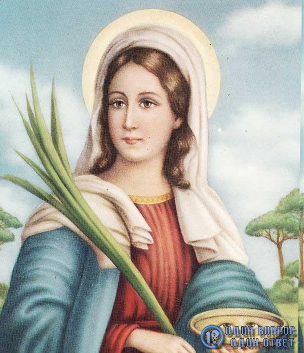Фото святой Луции