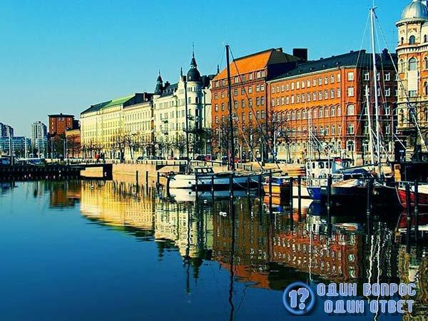 Канал в Хельсинках