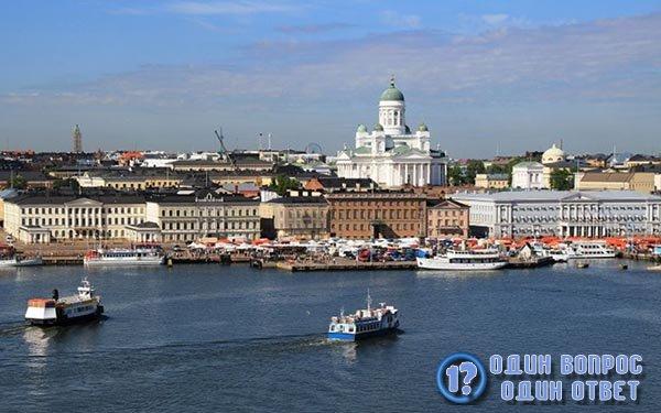 Порт в Хельсинках, Финляндия