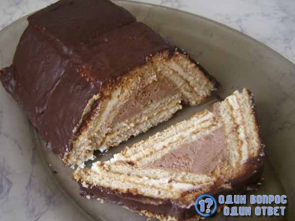Торт из печенья не нужно выпекать