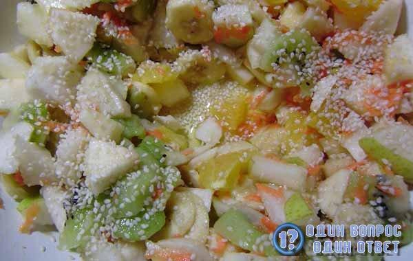Недорогой десерт - фруктовый салат