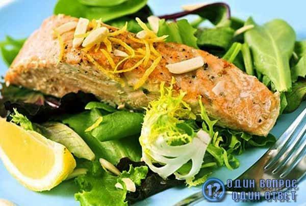 Красная рыба с лимоном - полезное диетическое блюдо