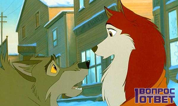 Кадр из мультипликационного фильма Балто