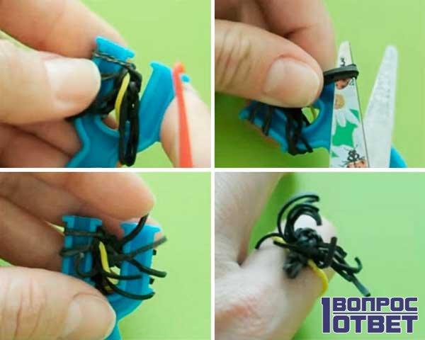 Плетение паука из резинок 4
