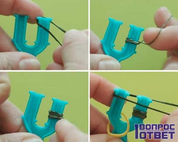 Плетение паука из резинок 1