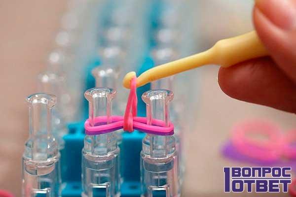 Плетение на станке резинок