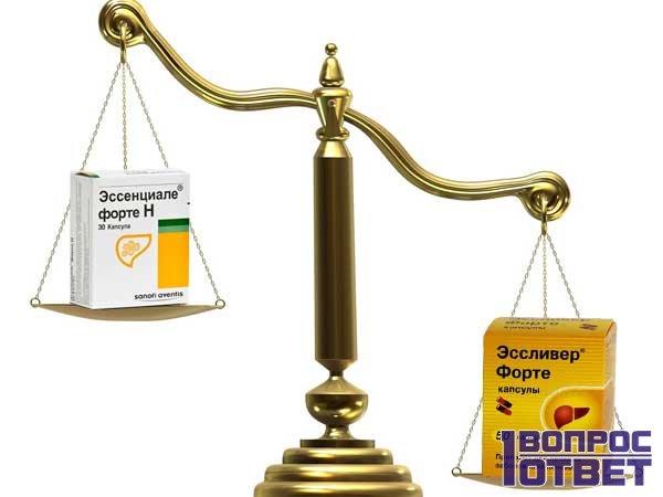 Какой препарат лучше: эссенциале или эсливерфорте?
