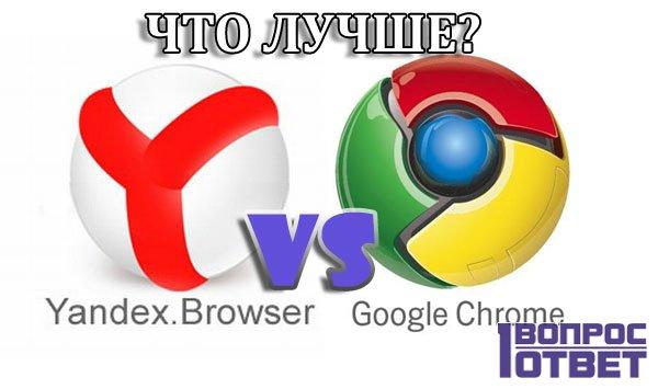 Сравниваем Гугл Хром и Яндекс Браузер