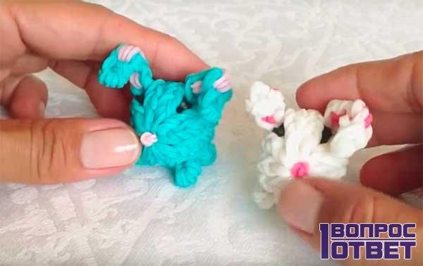Кролик из резинок - урок 8: результат