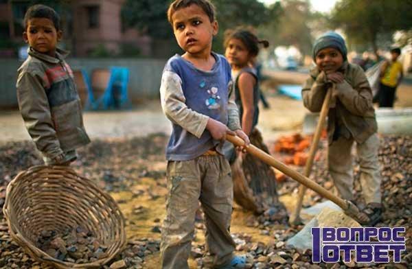 Дети работают с раннего возраста