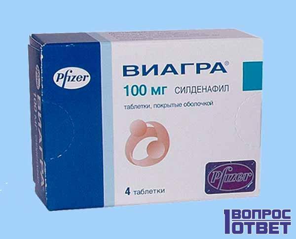 Препарат Виагра - упаковка