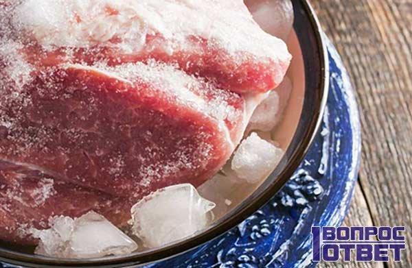 Замороженное мясное филе