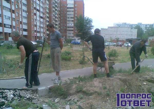 Разнорабочие зарабатывают 5000 рублей