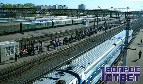 ЖД вокзал - вид сверху