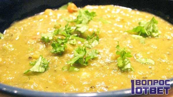 Разваренный гороховый суп