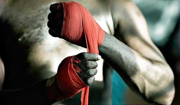 как бинтовать боксёрские бинты правильно