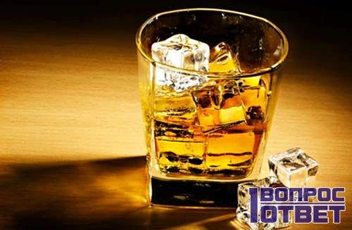 Виски со льдом без закуски