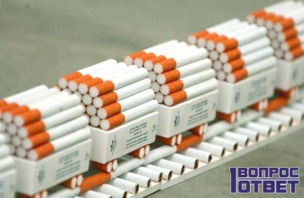 Сигаретная линия на предприятии