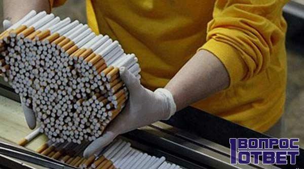 Производство сигарет на предприятии в Италии