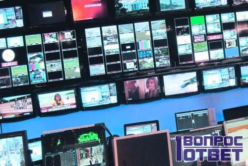 Телеэкраны транслируют передачи
