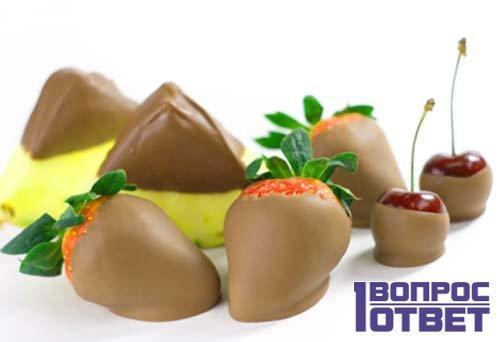 Фрукты в шоколаде придадут особую романтичность