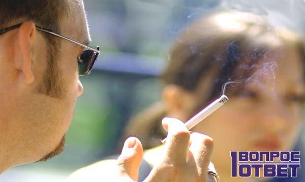 Пассивное курение на улице