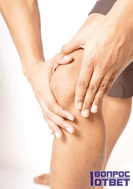 Опухоль колена при падении