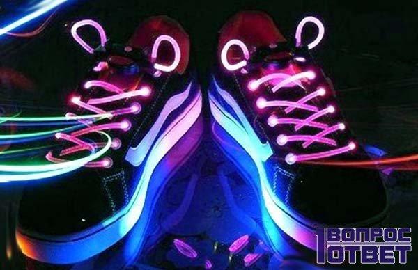 Изготовление шнурков, которые светятся в темноте