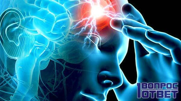 Инсульт в мозге человека