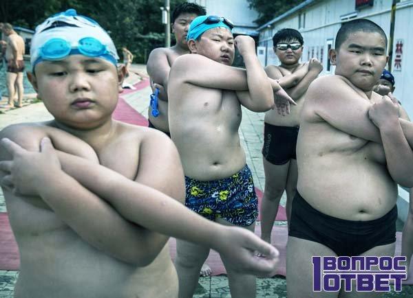 Активный отдых толстых китайских детей