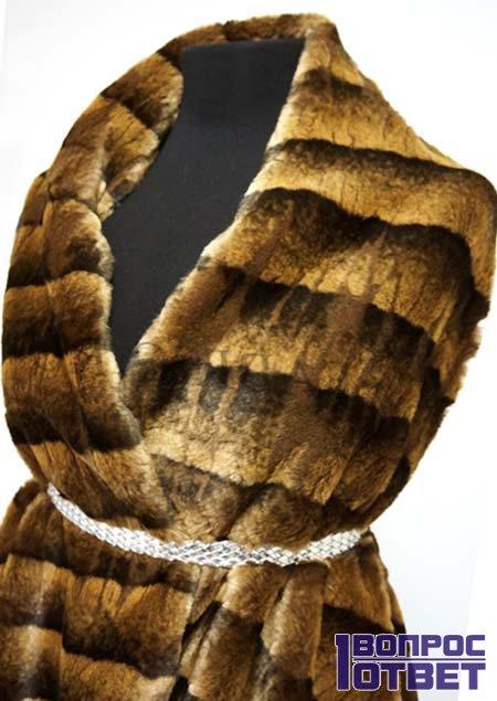 Полосатая шуба - мутон