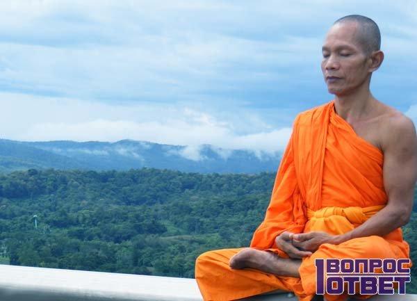 Кришнаид медитирует и молчит
