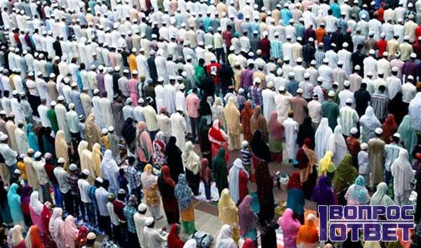 Мусульмане перед молитвой