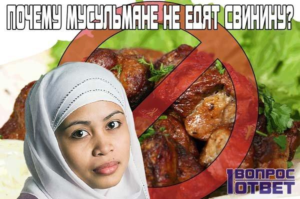 Почему мусульмане не употребляют свинину?