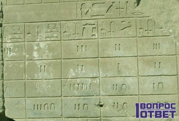 Древние письмена - календари на стене