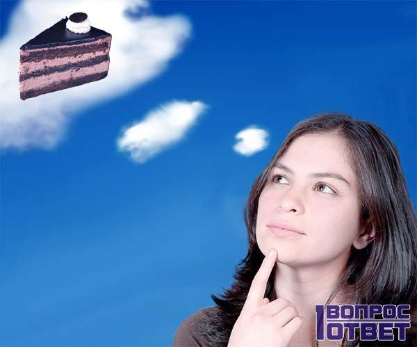 Девушка во время месячных хочет шоколадный торт