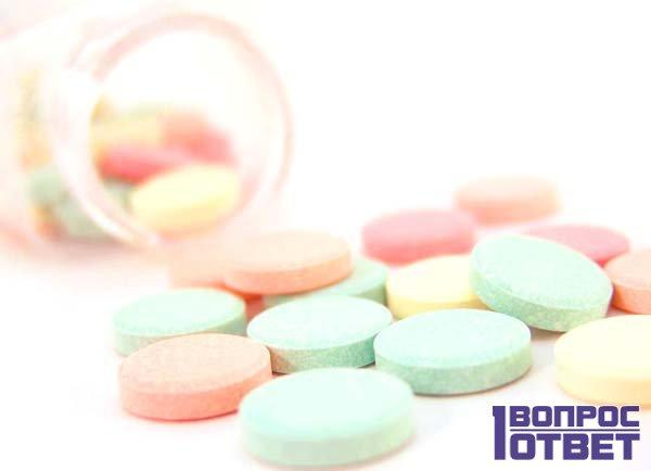 Мультивитамины на столе
