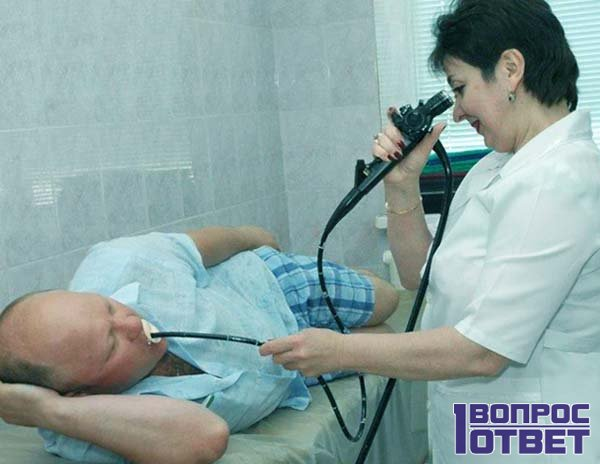 ФГС пациента с помощью аппарата