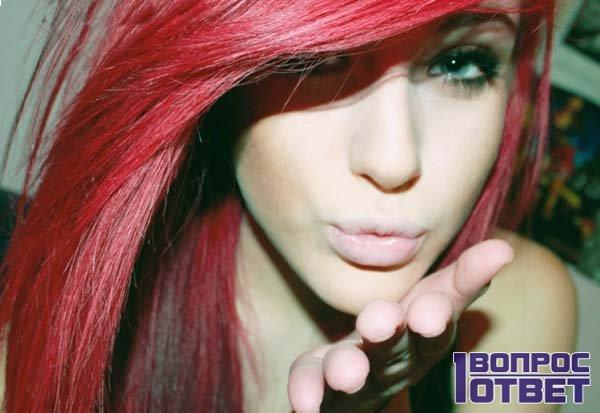 Молодая девушка-эмо
