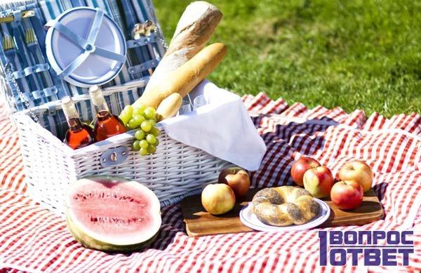 Пошли с друзьями на пикник