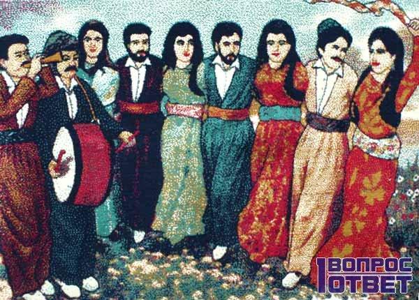 Религиозные курды - вышивка