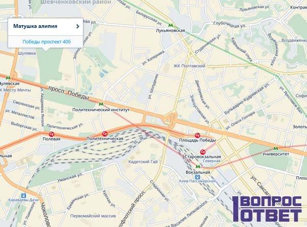 Схема проезда в Киеве