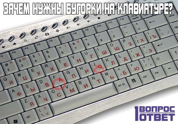 Для чего нужны бугорки на клавиатуре?