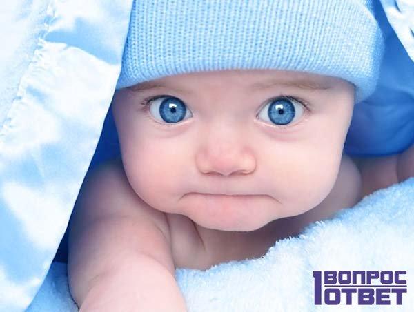 Младенец - голубоглазый мальчик