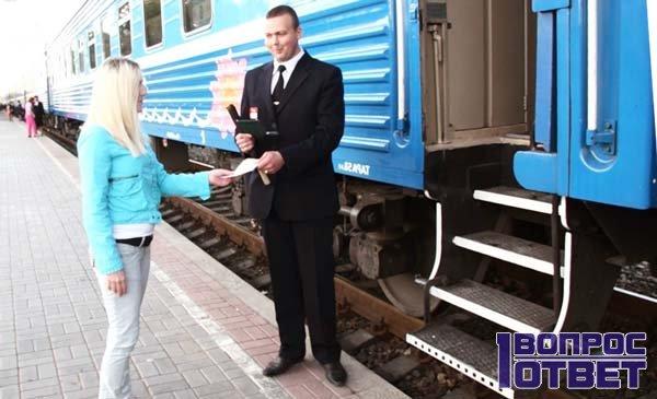 Девушка заходит в поезд с вещами