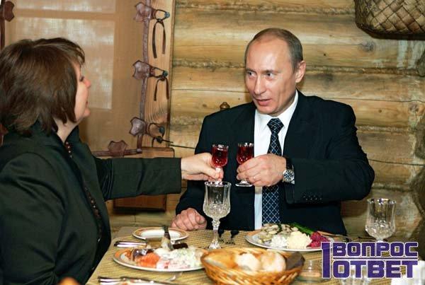 Ужин с Путиным в избе