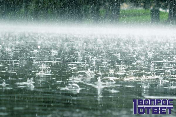 Идет затяжной дождь