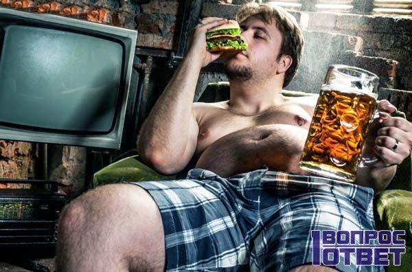 Калорийность пива высока из-за закусок