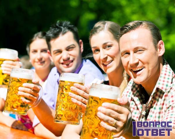 Веселая компания с пивком