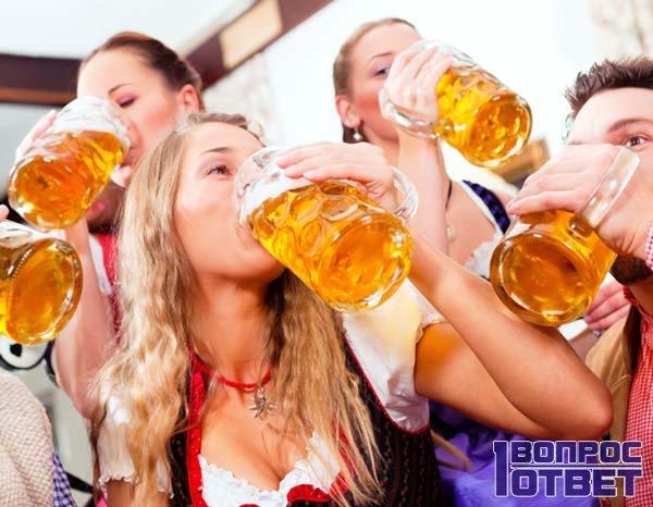Пиво довольно вредно для человека